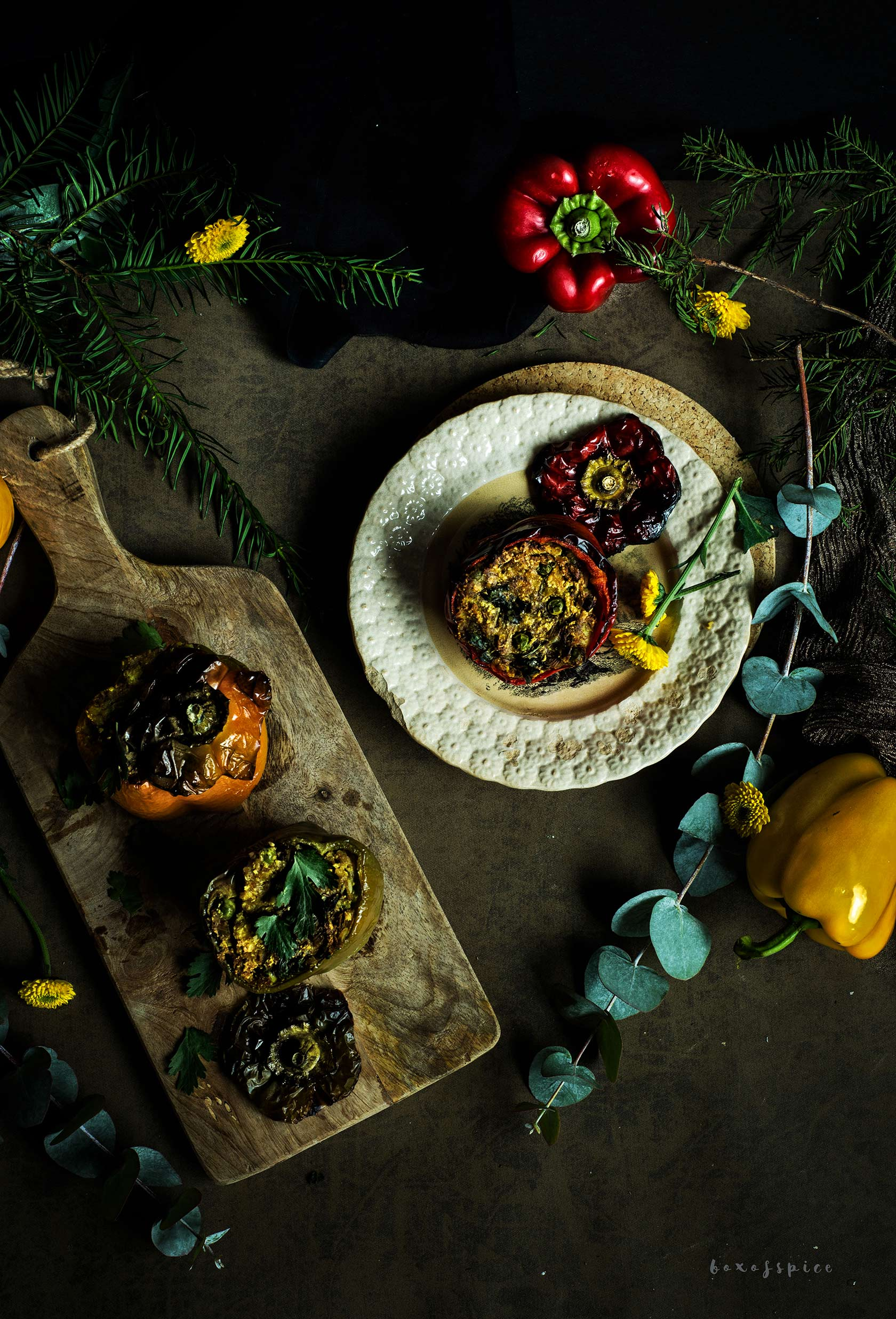 Spicy Stuffed Peppers with Paneer I Boxofspice