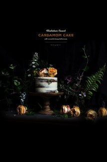 Malabar Coast Cardamom Cake with Rosewater Honey Buttercream
