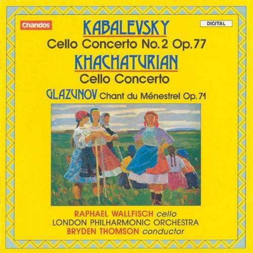 Wallfisch: Kabalevsky, Khachaturian, Glazunov - Cello Concertos (APE)