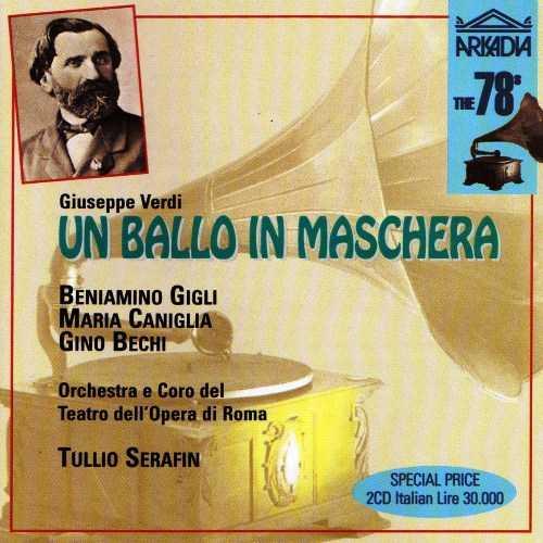 Serafin: Verdi - Un Ballo in Maschera, Roma 1943 (2 CD, APE)
