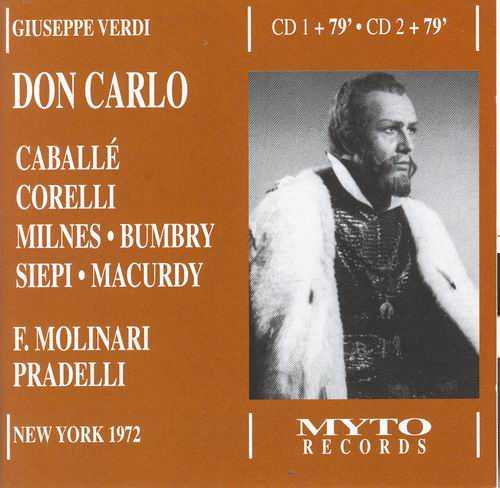 Molinari Pradelli: Verdi - Don Carlo, New York 1972 (2 CD, FLAC)