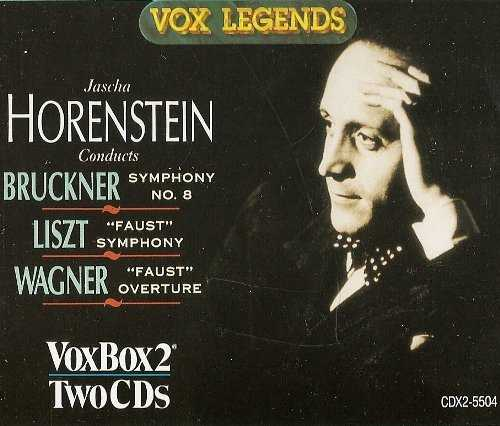 Jascha Horenstein conducts Bruckner - Symphony no.8, Liszt, Wagner - Faust (2 CD, APE)