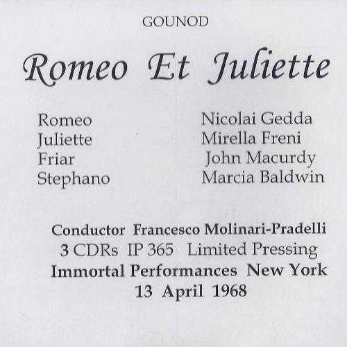 Molinari-Pradelli: Gounod - Romeo et Juliette, Live 1968 (3 CD WAV)