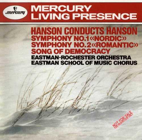 Hanson: Symphony no.1,2, Song of Democracy (APE)