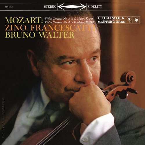 Francescatti, Walter: Mozart - Violin Concertos no.3 & 4. Remastered (24/96 FLAC)