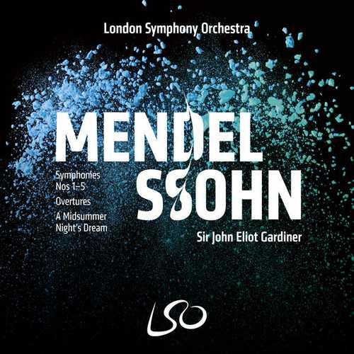 Gardiner: Mendelssohn - Symphonies no.1-5, Overtures, A Midsummer Night's Dream (24/96 FLAC)