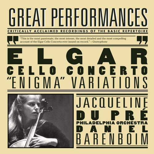 du Pré, Barenboim: Elgar - Cello Concerto, Enigma Variations (FLAC)
