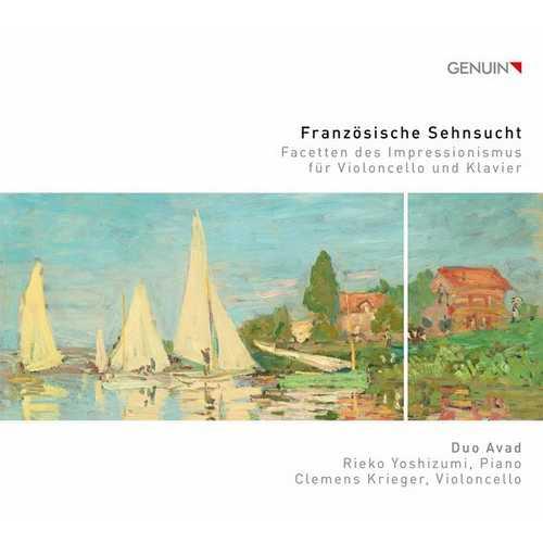Duo Avad: Französische Sehnsucht. Facetten des Impressionismus für Violoncello und Klavier (24/44 FLAC)