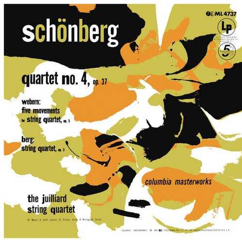 Juilliard String Quartet: Schoenberg - String Quartet no.4, Webern, Berg. Remastered (24/192 FLAC)
