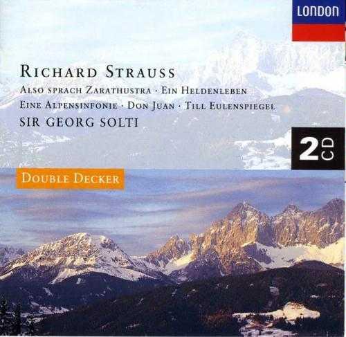 Solti: Strauss - Also Sprach Zarathustra, Ein Heldenleben, Eine Alpensinfonie, Don Juan, Till Eulenspiegel (2 CD, APE)