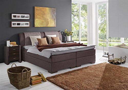 Breckle Boxspringbett 160 x 200 cm Lund Box Split Hollanda 1000 TFK Topper Gel Premium Standard