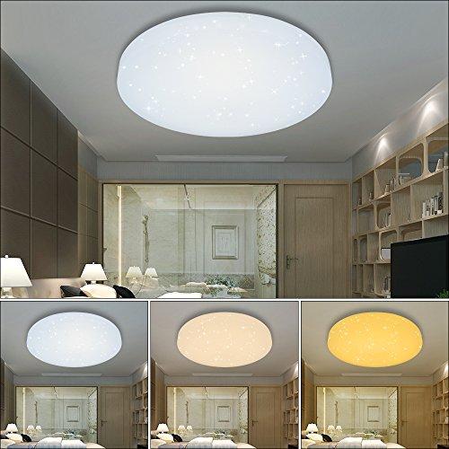 HG® LED Deckenleuchte Deckenlampe Wandlampe rund Deckenbeleuchtung Wohnraum Wand-Deckenleuchte Esszimmer Lampe Starlight-Effekt schön Mordern Panel Energiespar Decken EEK A++ Modern Dekor
