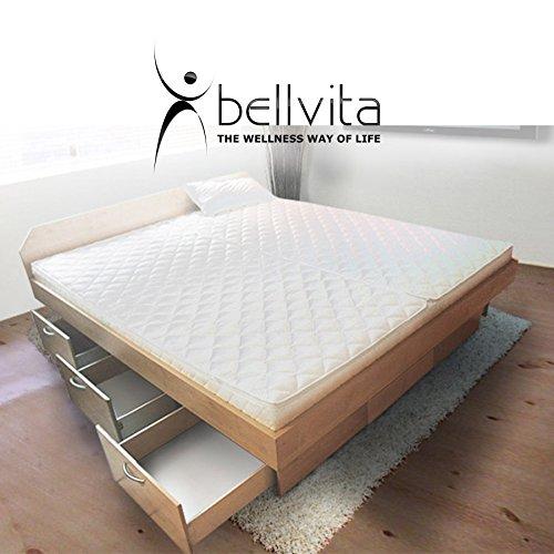 bellvita silverline Wasserbett mit Soft-Close Schubladensockel & Bettumrandung inkl. Lieferung & Aufbau durch Fachpersonal, 160cm x 200cm
