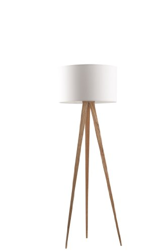 Zuiver 5000806 Floor Lamp Tripod, holz, weiß