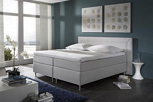 Breckle Boxspringbett 180 x 200 cm Window Box mit Stauraum 500 Hollanda 1000 Gel Topper Gel Comfort
