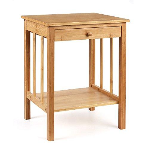 HOMFA Nachttisch Bambus Einzeln/Beide