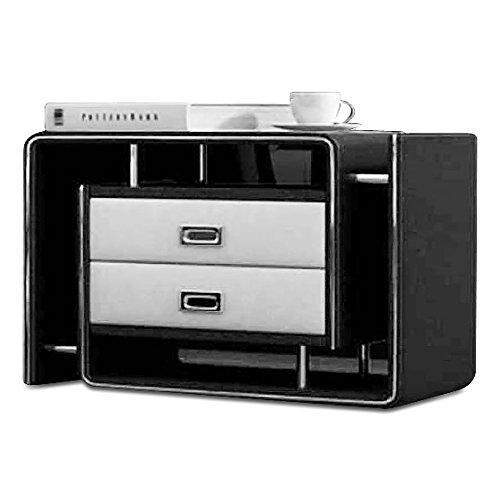 SAM® Nachtkommode Konsole In-03 rechts in schwarz / weiß modernes Design mit 2 x Schublade Stauraum Oberfläche pflegeleicht