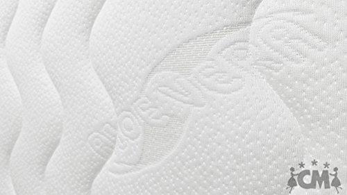 M.K.F. Florence Premium 7 Zonen Tonnen-Taschenfederkernmatratze 90x200 cm in H3. Tonnentaschenfederkern Matratze, Klimafaser, Atmungsaktiv, ca. 18 cm hoch, Härtegrad H3. Schlafen Wie auf Wolken.
