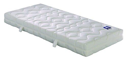 Badenia Bettcomfort Matratze, 7-Zonen, Irisette Lotus Tonnentaschenfederkern H2, 140x200 cm, weiß