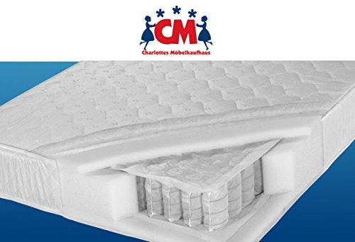 Tonnen-Taschenfederkernmatratze 140x200 cm Florence Plus Qualitätsmatratze Tonnentaschenfederkern Matratze H2. Klimafaser, atmungsaktiv, Federkernmatratze 140 x 200 cm.
