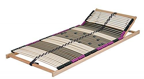 """NEU mit 56 Federholzleisten sehr stabil !!!! 7 Zonen Lattenrost aus Buche """"Premium KV"""" inkl. 6 fache Härteverstellung, mit Kopfverstellung zerlegt (90 x 200 cm)"""