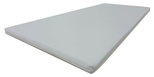 Dibapur® VISCO TOPPER 3D Air Fresh Bezug Viscoelastische Memory Matratzenauflage (3D AIR 120x190) x ca. 5 cm Kern mit Bezug ca. 5,2 cm - Made in Germany