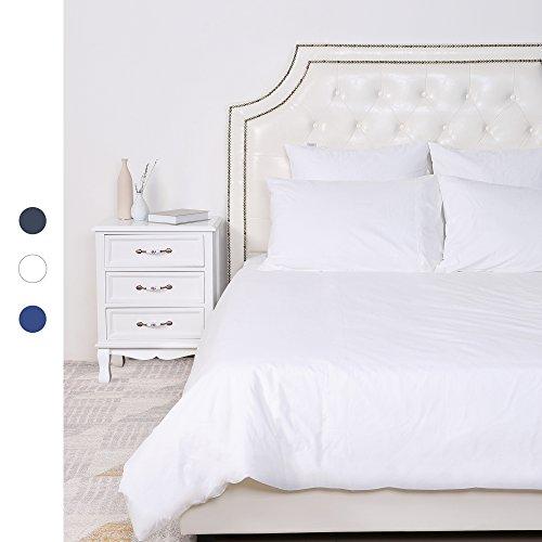 HOMFY 100% Baumwolle Bettwäsche, Ein Bettbezug 200x220 cm im Set mit 2 Kissenbezüge 80x80 cm in Tollen Reinen Farben, elegant mit Hotelcharakter