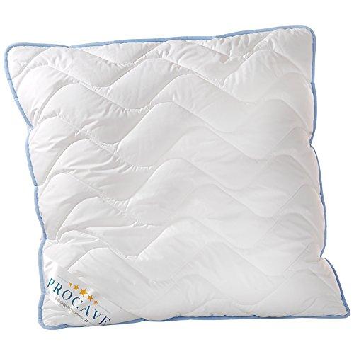 PROCAVE TopCool Qualitäts-Stepp-Kissen 80x80 cm | Atmungsaktives Allergiker Kopfkissen | Soft-Komfort | kochfestes Kissen | Winter- und Sommer-Kissen | Made in Germany