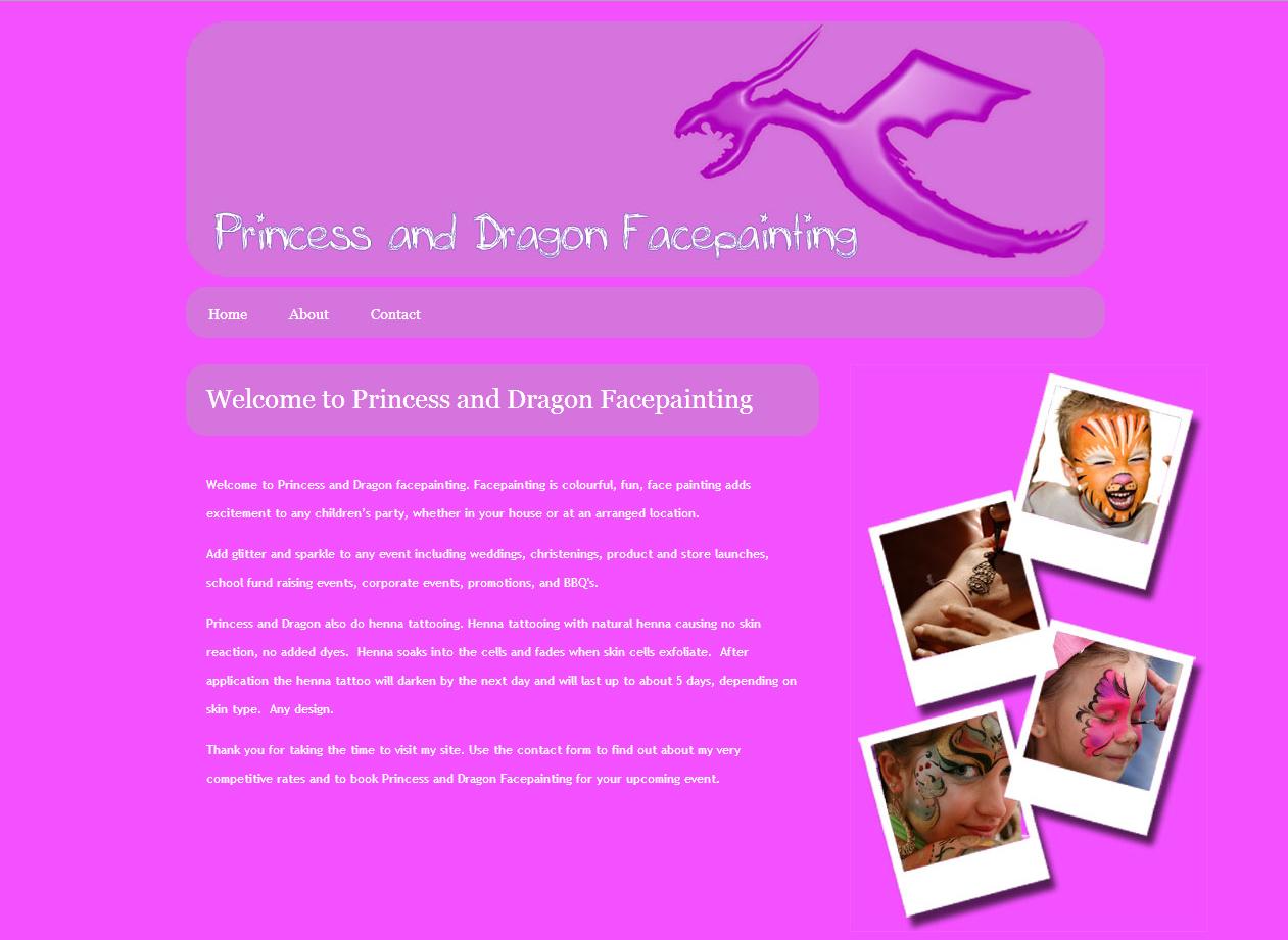 Princess and Dragon Facepainting