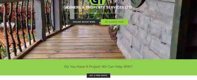 GT Joinery And Property Services homepage