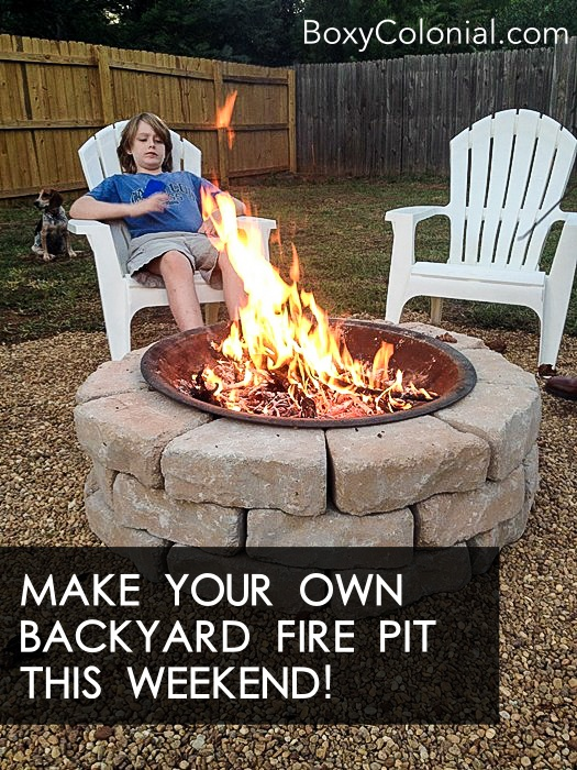 Make your Own DIY Backyard Fire Pit: Cheap Weekend Project on Building Your Own Outdoor Fireplace id=92604