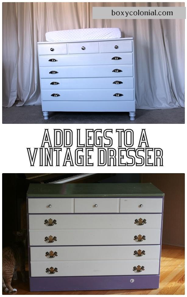 Add Legs To A Vintage Dresser