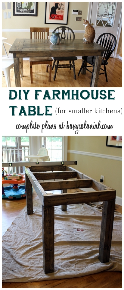 diy small farmhouse table plans complete plans and cut list to make this farmhouse table