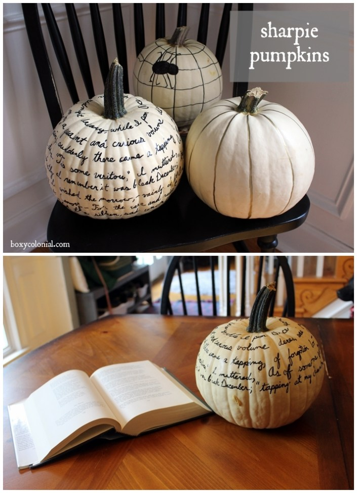 These Sharpie pumpkins make simple and elegant Halloween decorations