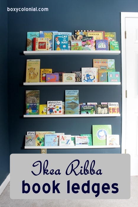 ikea ribba book ledges for a kid's room or nursery