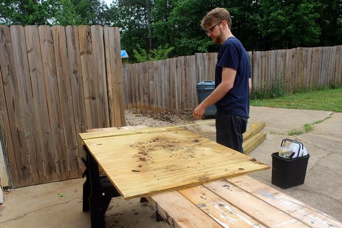 scrap plywood counter