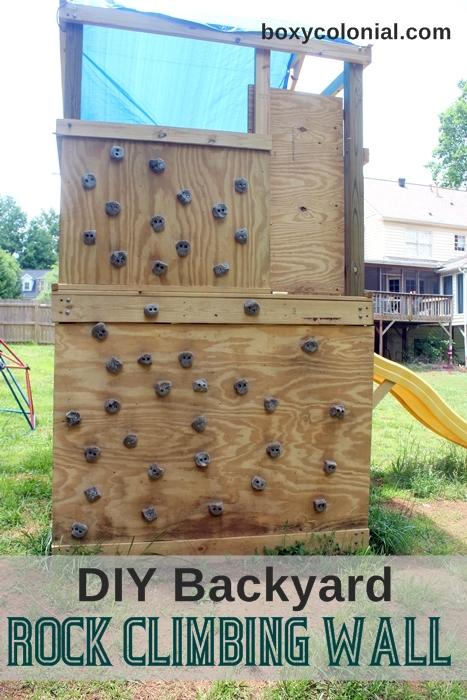 Backyard climbing wall diy