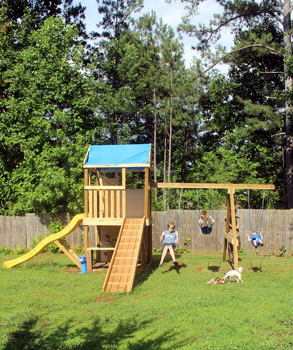 how to build a cheap swing set