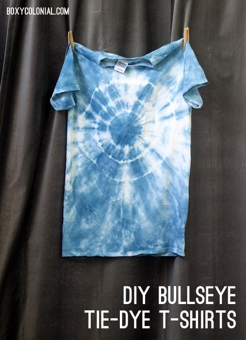 DIY Bullseye Tie-dye shirts
