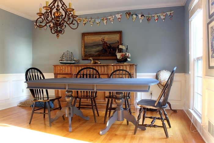 Our Newly Hale Navy Dining Room Table And The Finish Max