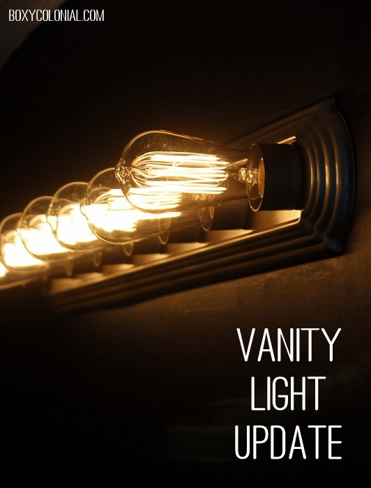 Quick and easy update for a builder grade vanity light fixture