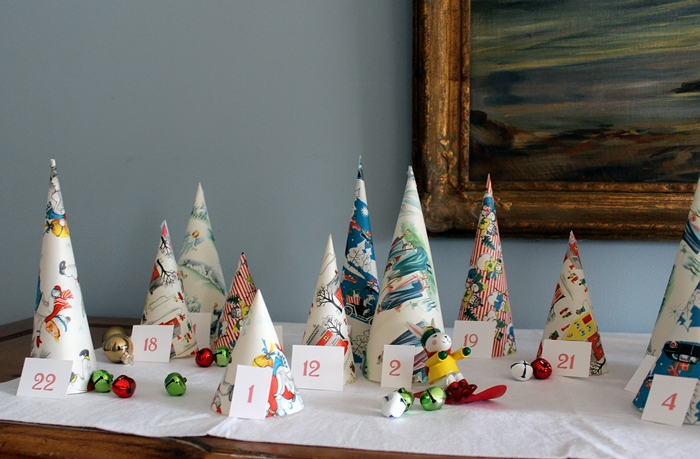 creative advent calendars - cone tree advent calendar - boxycolonial.com