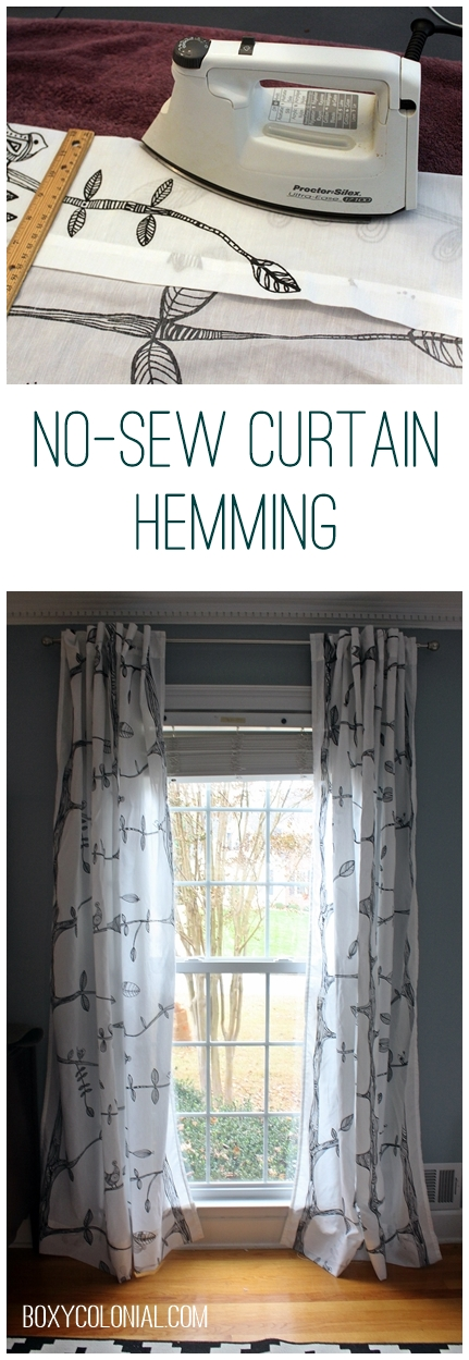 Hem Curtains Without Sewing With Iron On Tape