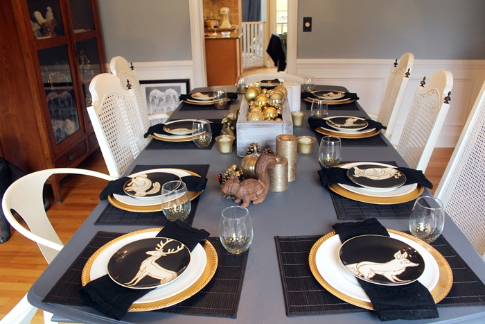 hale navy table and white cane chairs