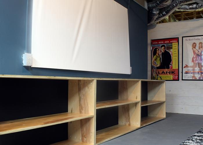 diy modern birch shelves