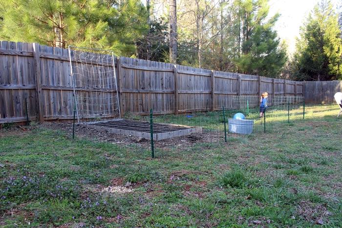 easy wire garden fence