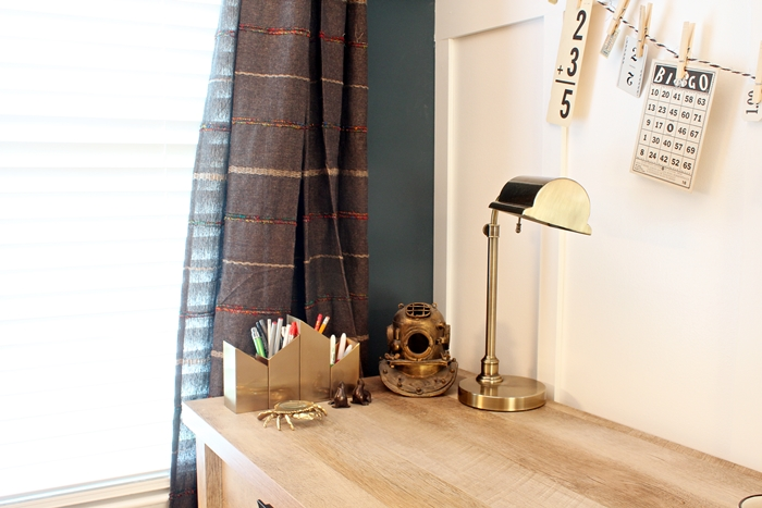 A Neutral, Textured Home Office With Sauder