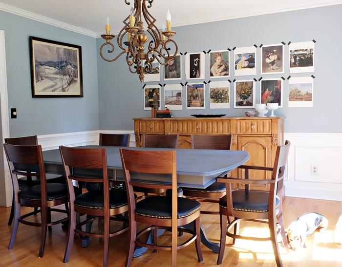 dining room with pottery barn chairs