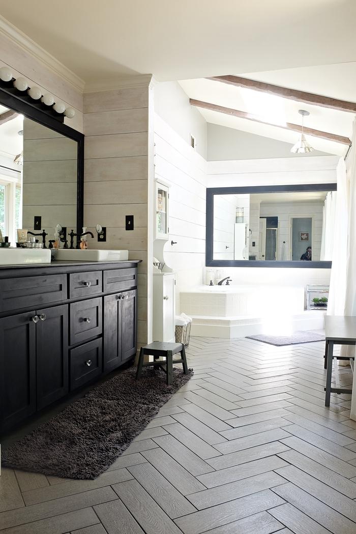Kristi's Modern Farmhouse/ Rustic Glam Master Bathroom ... on Bathroom Ideas Modern Farmhouse  id=24289