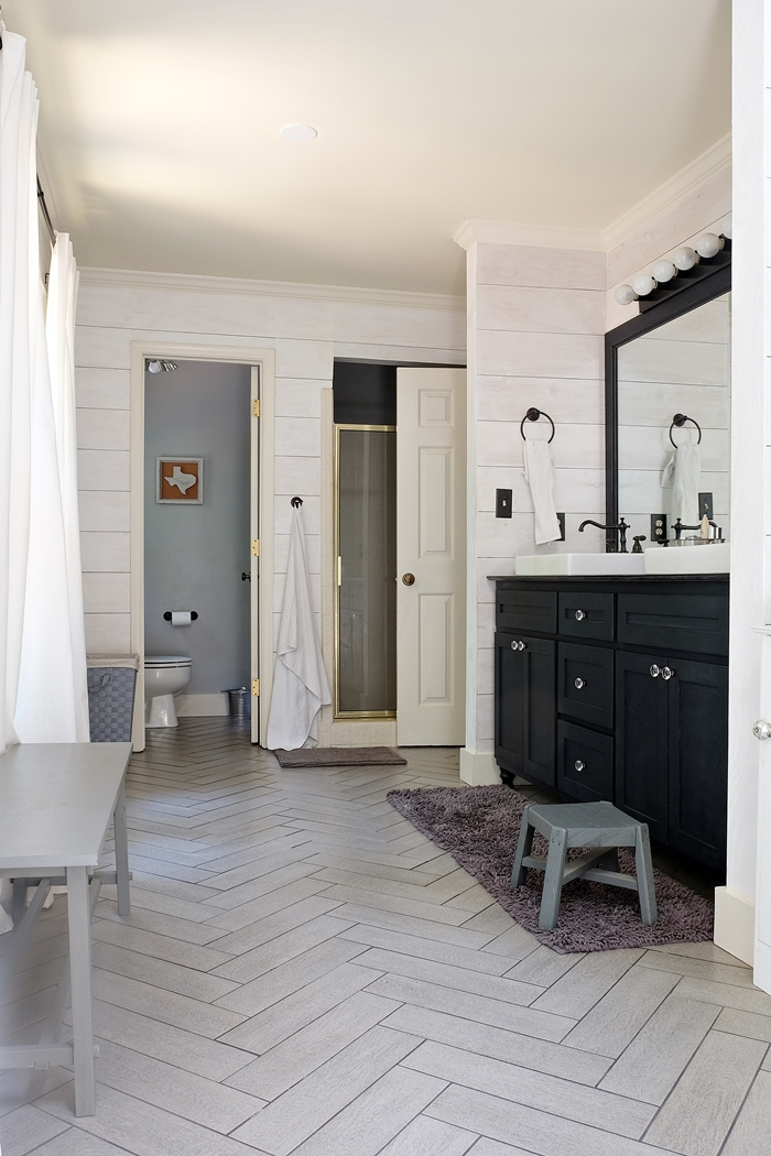 Kristi S Modern Farmhouse Rustic Glam Master Bathroom